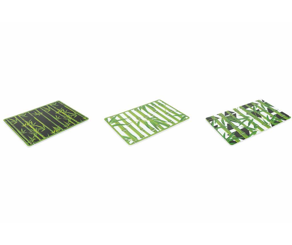 Set 6 suporturi farfurii Urban Bamboo 30x45 cm