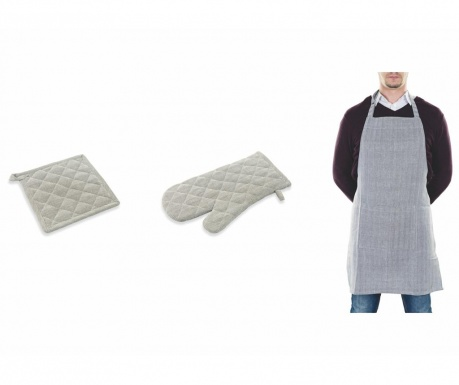 Sada kuchyňská zástěra, kuchyňská chňapka a podložka pod horké nádoby Spigato