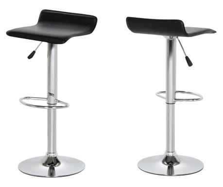Sada 2 barových židlí Dan Black