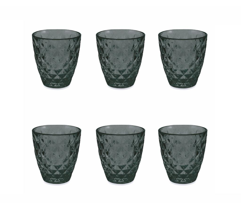 Set 6 kozarcev za vodo Fresh Black 257 ml