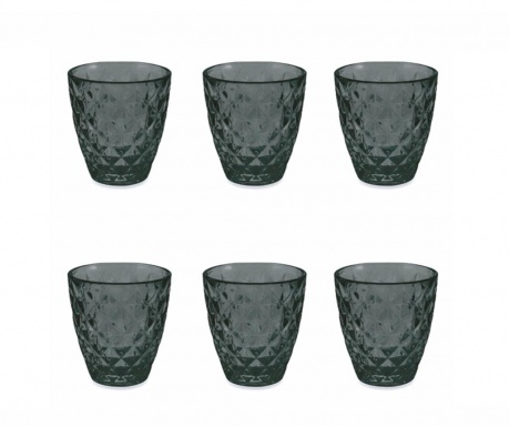Сервиз 6 чаши за вода Fresh Black 257 мл