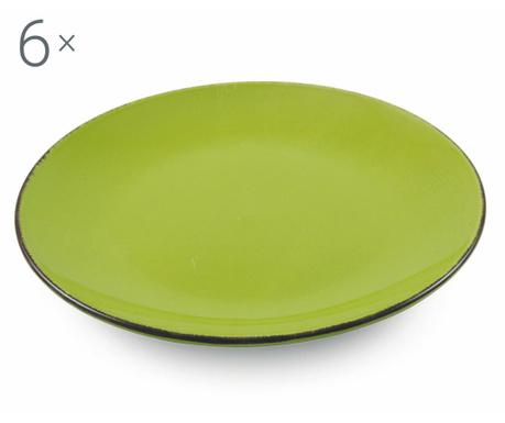Сервиз 6 плитки чинии Baita Green