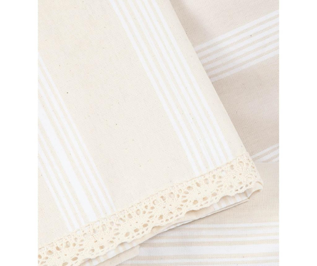 Lenjerie de pat Single Plain Stripes Cream