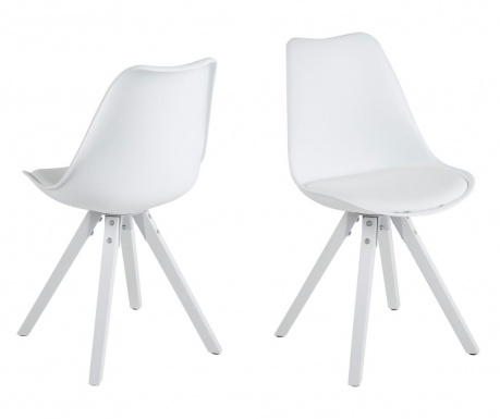 Sada 2 židlí Dima Style White