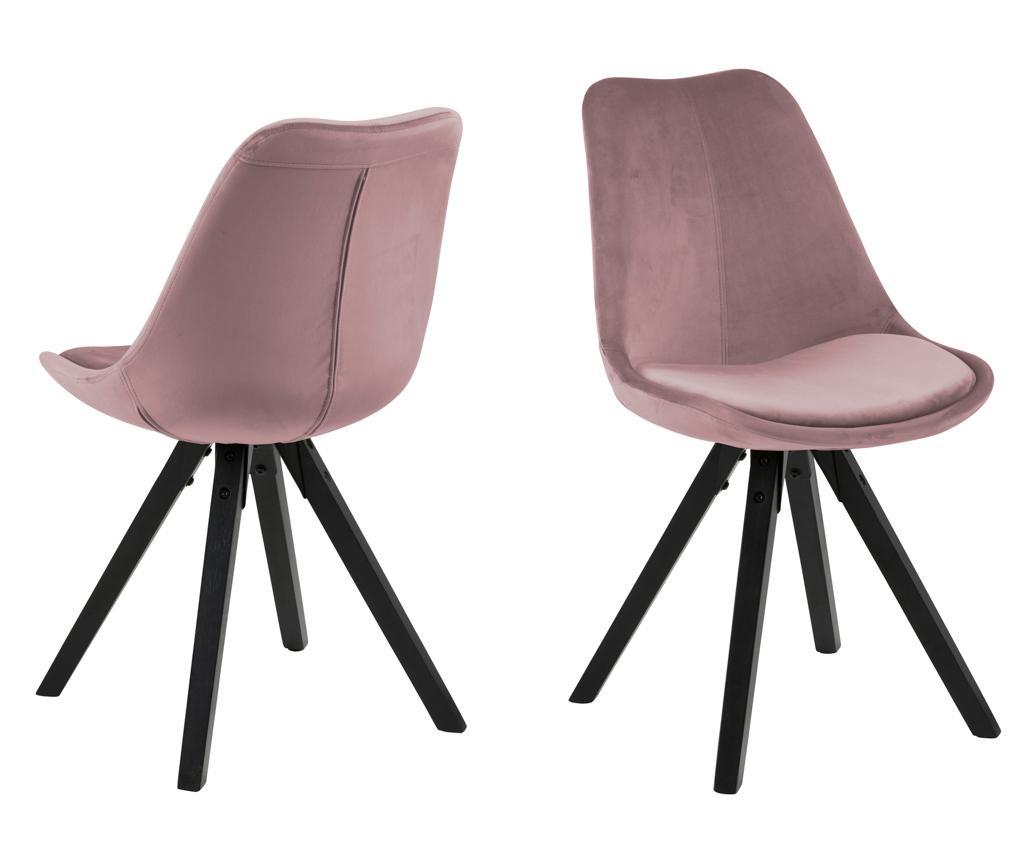 Set 2 stolice Dima Black Rose