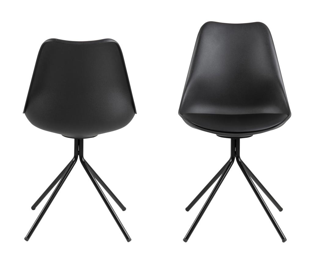 Set 2 stolice Dima Black
