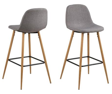 Sada 2 barových židlí Wilma