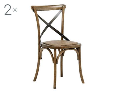 Sada 2 židlí Vintage Cream