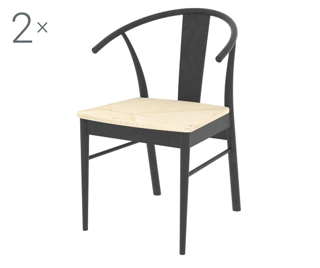 Set 2 stolice Janik Black