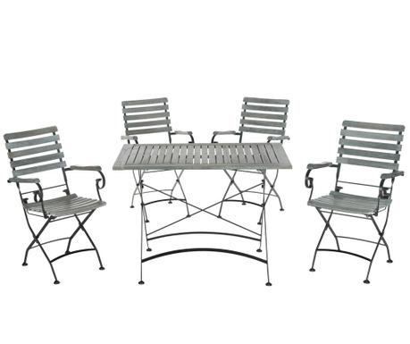Set masa si 4 scaune pentru exterior Letha