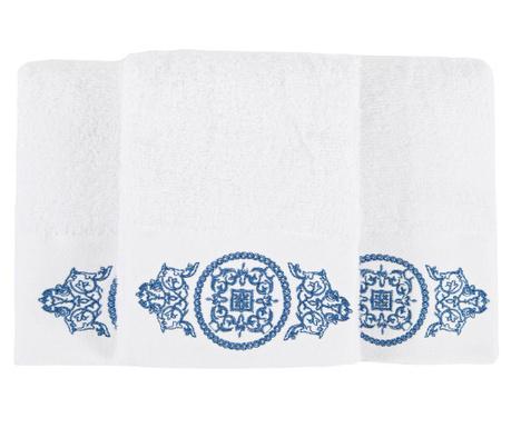 Sada 3 ručníků Lara Roses 30x50 cm