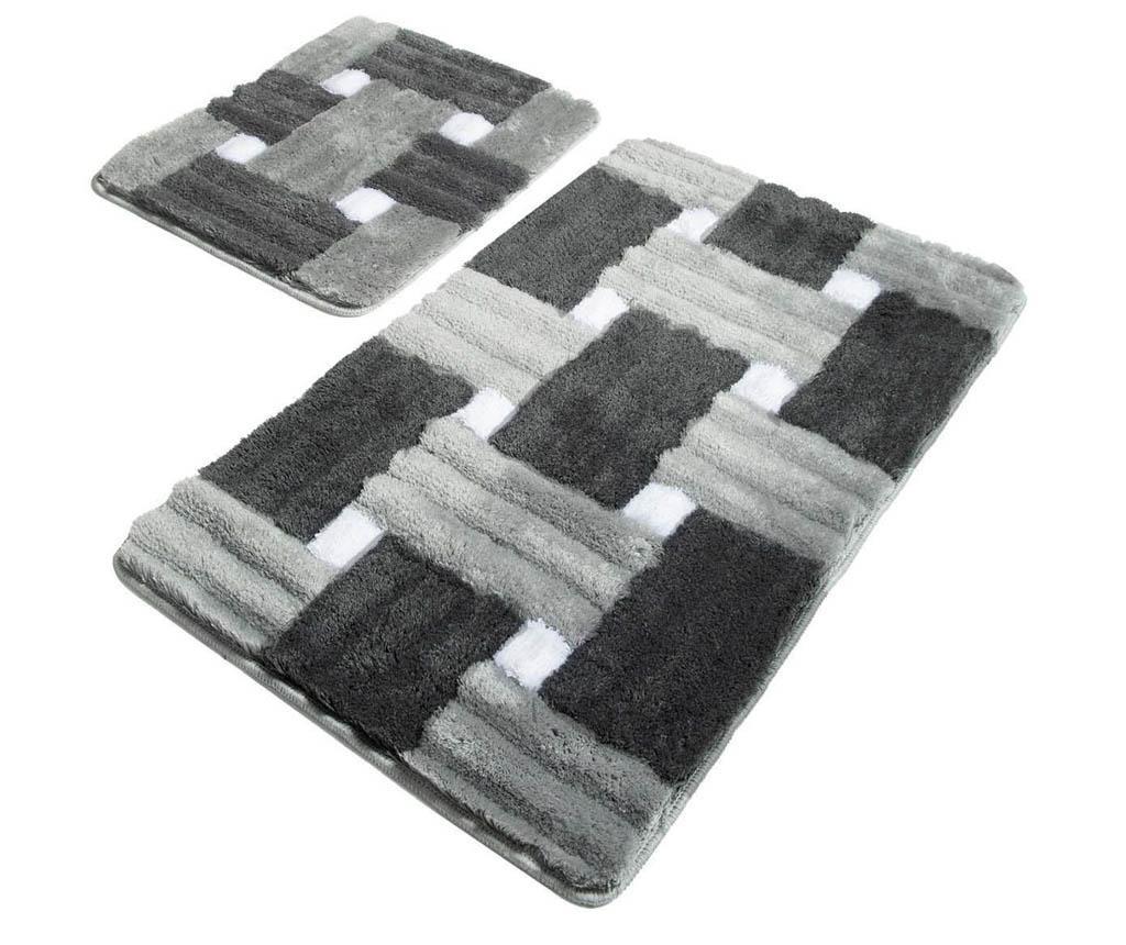 Marina Grey 2 db Fürdőszobai szőnyeg