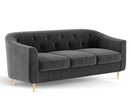 Canapea 3 locuri Corde Dark Grey