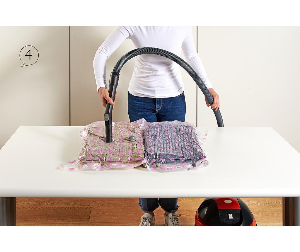 Set 2 vreće za vakumiranje Riducispazio Pink 50x70 cm