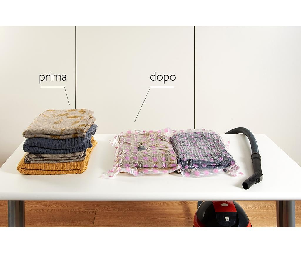 Vakuumsko tesnilna vreča za oblačila Riducispazio Pink 70x100 cm