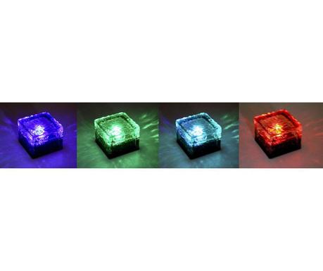 Set 4 solarnih talnih svetilk Ice Cube