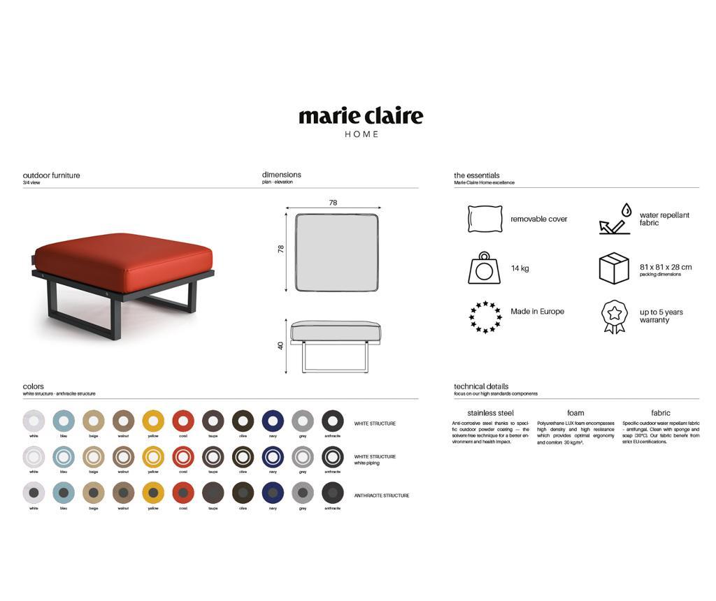 Scaun pentru exterior Mark Olive