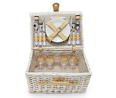 Cos echipat pentru picnic 4 persoane Manly Yellow