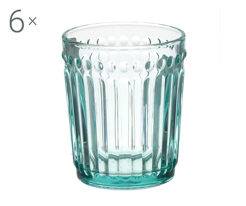 Set 6 kozarcev za whiskey Clara Blue 227 ml