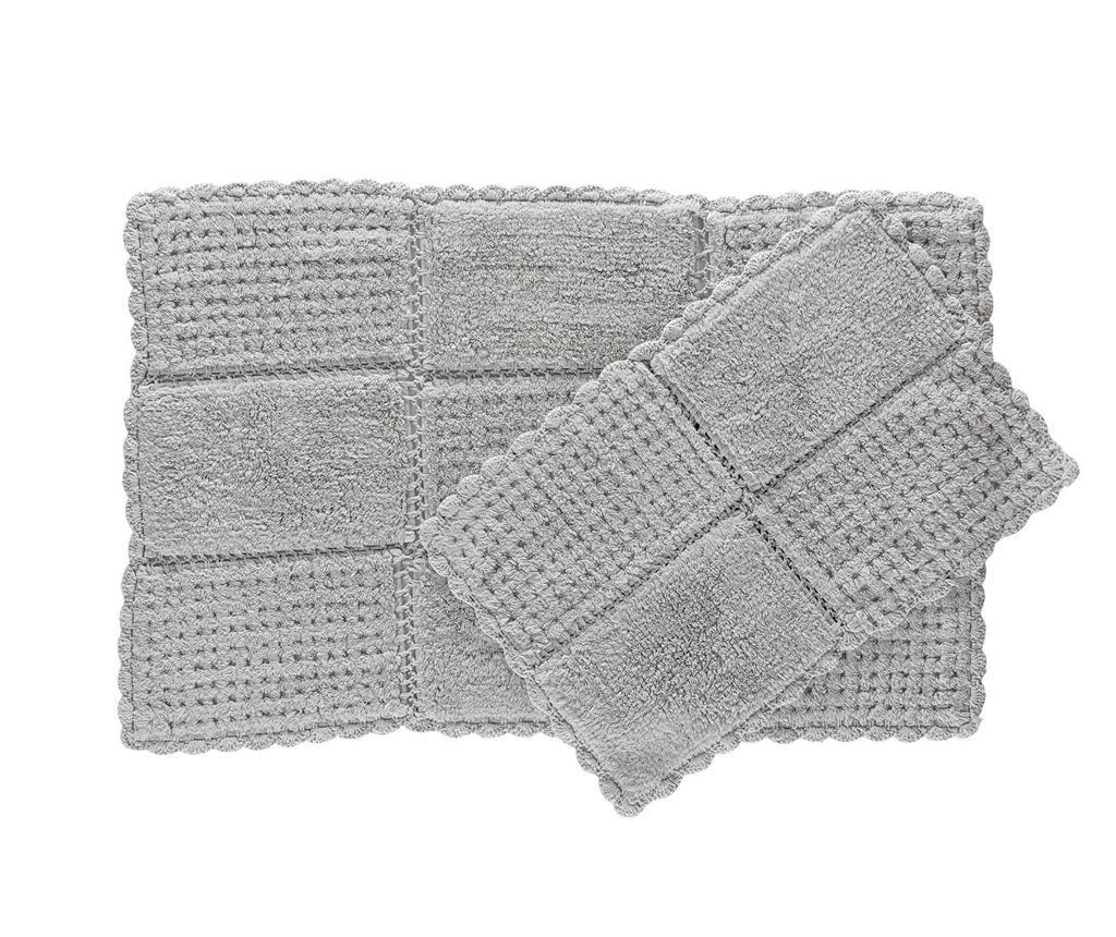 Hola Grey 2 db Fürdőszobai szőnyeg