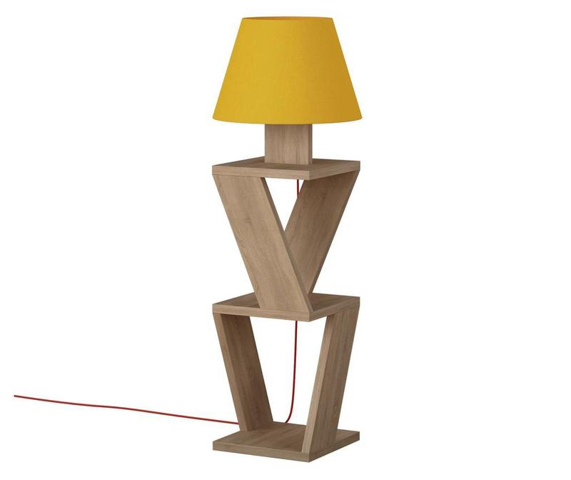 Samostojeća svjetiljka Kozena Oak and Yellow