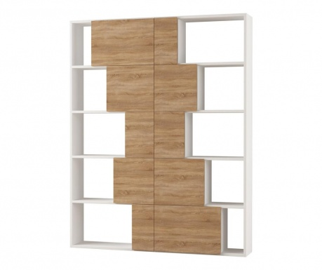 Polica za knjige Ondatoo Tall White and Oak