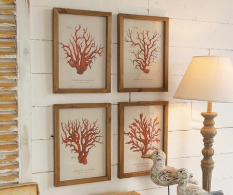 Set 4 tablouri Corallo