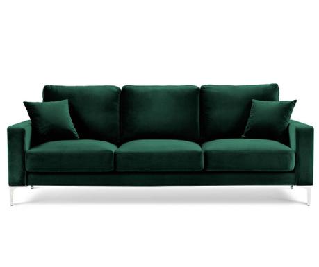 Lyrique Bottle Green Háromszemélyes kanapé