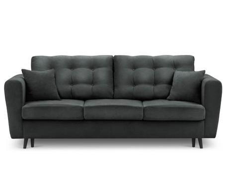 Chillout Dark Grey Kihúzható háromszemélyes kanapé
