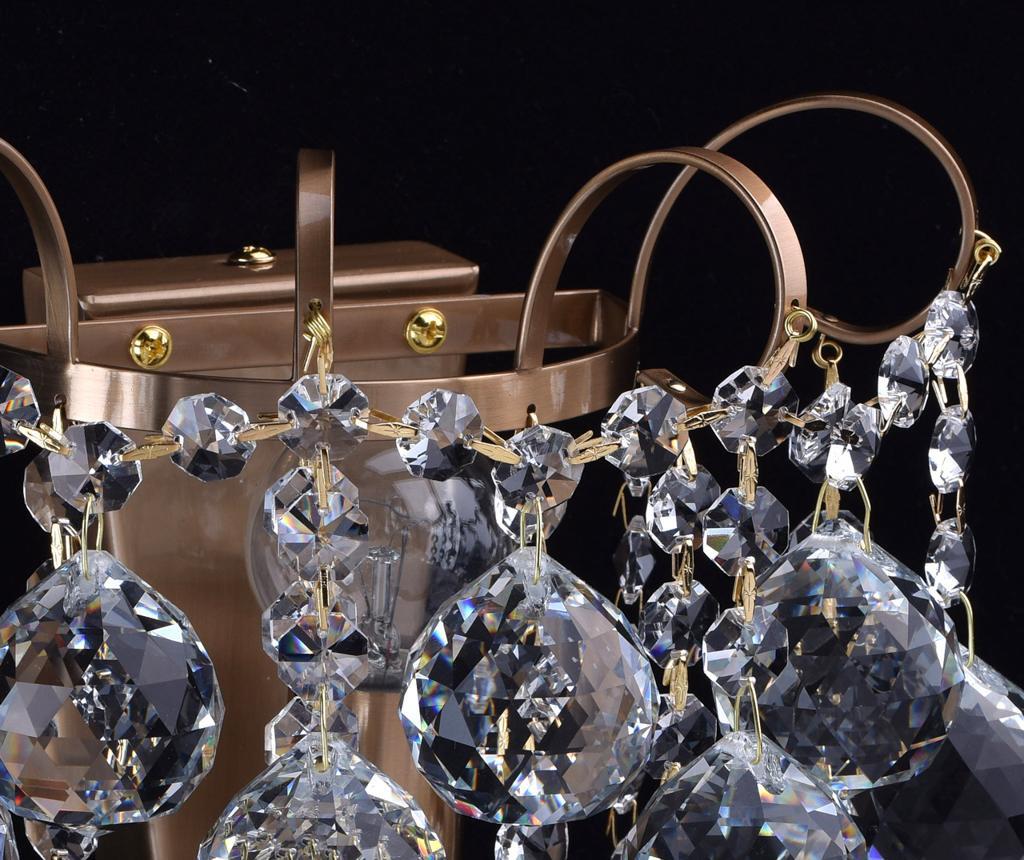 Zidna svjetiljka Pearl Honey Brass
