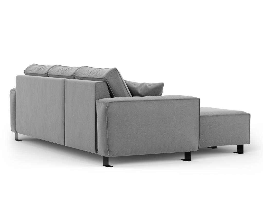 Leva kotna sedežna garnitura Modern Grey