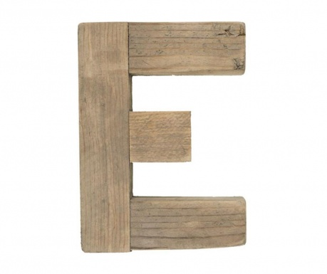 Decoratiune Letter E Natural Wood