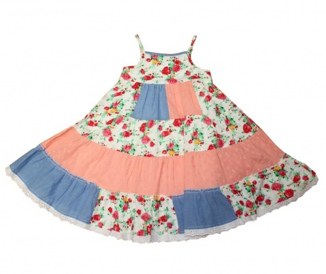 Otroška obleka Print 4-5 let