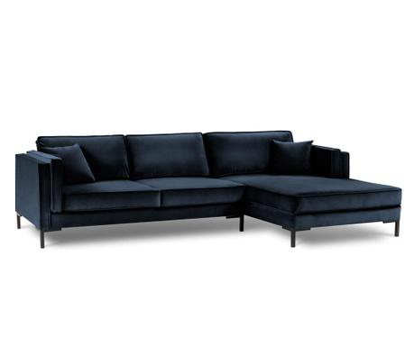 Desna sedežna garnitura Luis Dark Blue