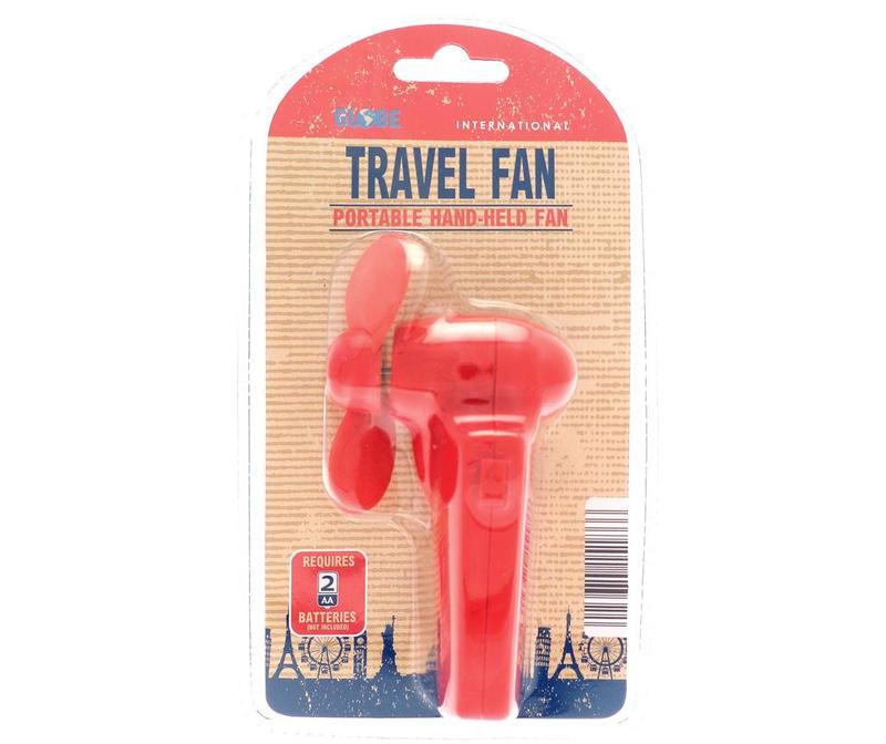 Ručni ventilator Travel Red
