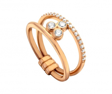 Inel Esprit Berlin Rose Gold Tone 17 mm