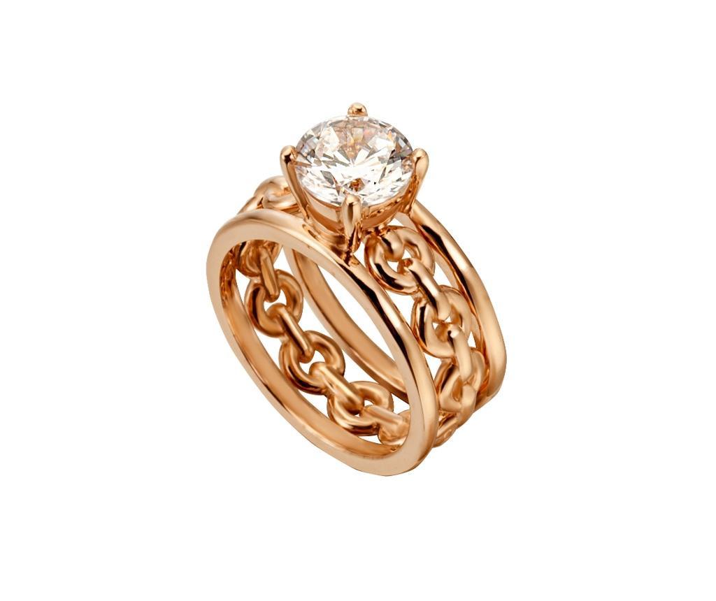Пръстен Esprit Type Silver & Rose Gold Tone 17 mm