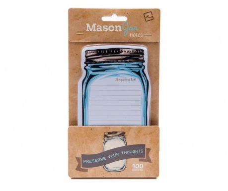 Mason Jar Sticky Notes Öntapadó jegyzettömb