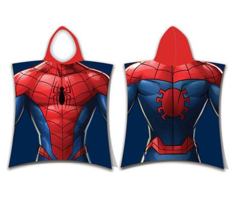 Pončo za otroke s kapuco Spider-Man 60x120 cm