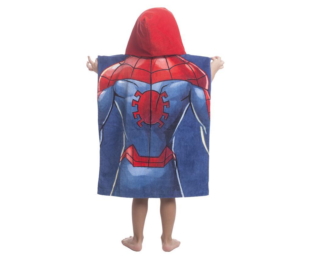 Poncho cu gluga copii Spider-Man 60x120 cm