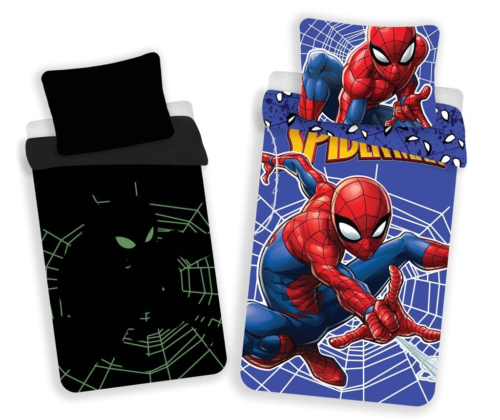 Set de pat Single Spiderman Glow