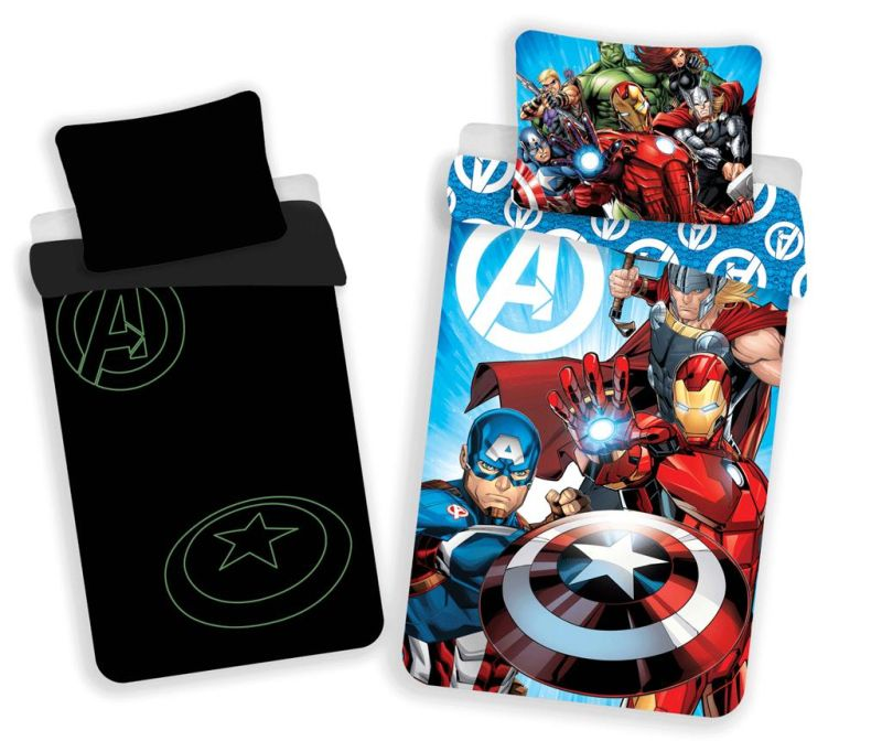 Set de pat Single Avengers Glow
