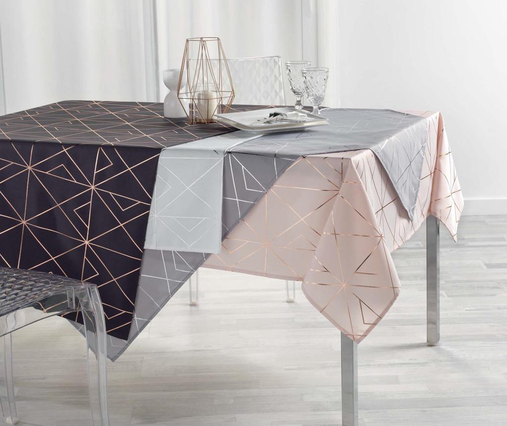 Fata de masa Quadris Grey and Silver 150x300 cm