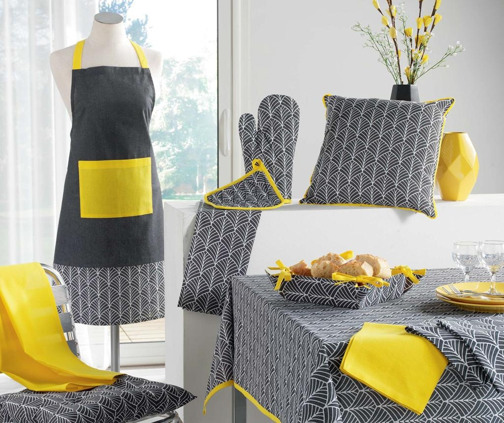Prešita sedežna blazina za stol Modern Style Yellow 40x40 cm