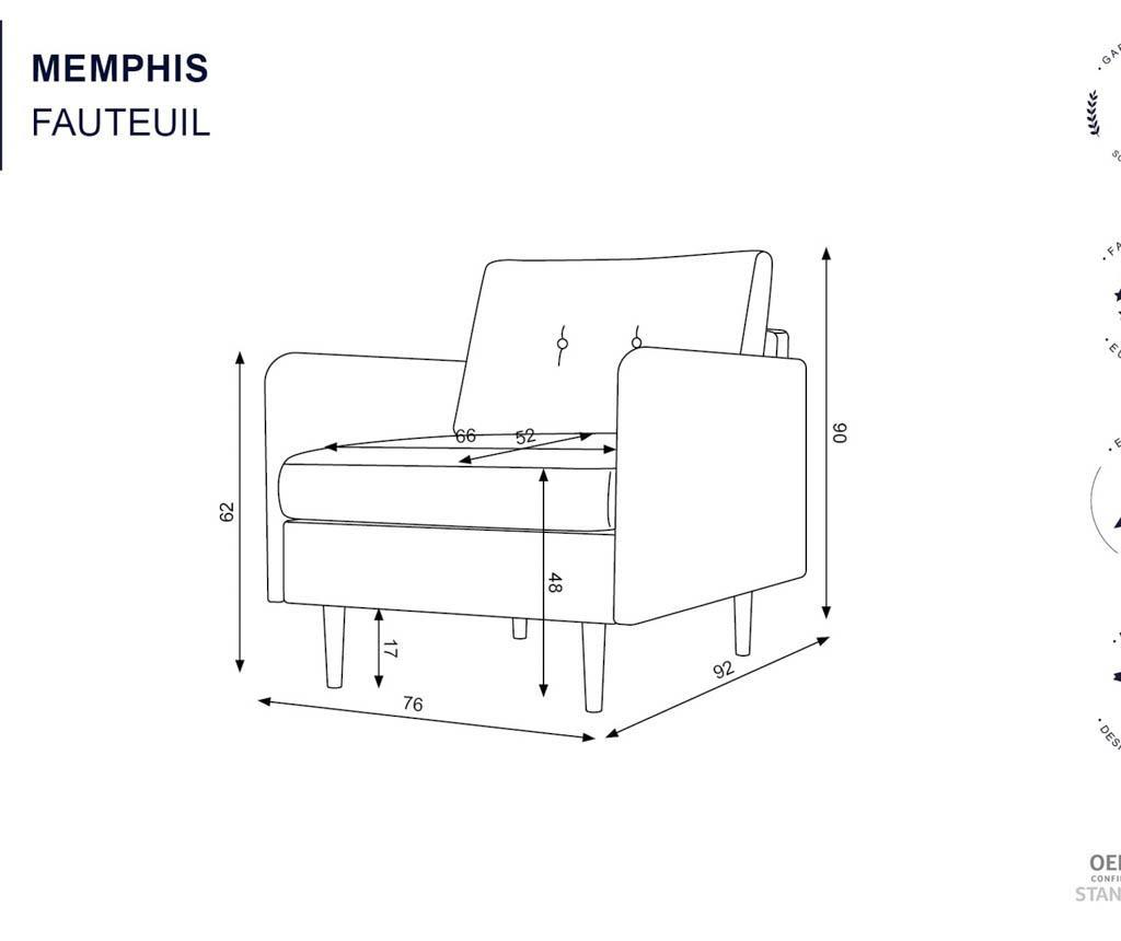 Memphis Taupe Fotel