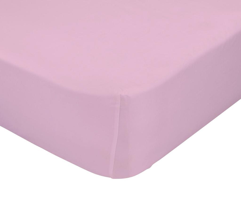 Plahta s elastičnom gumicom Basic Pink 90x200 cm