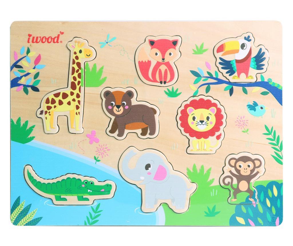 Jungle Animals 8 darabos Puzzle játék