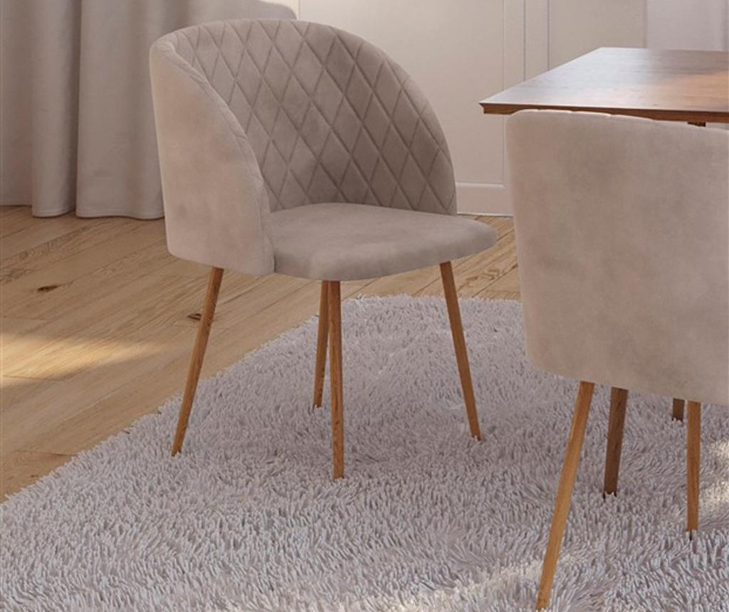 Stolica Makro Beige Velvet