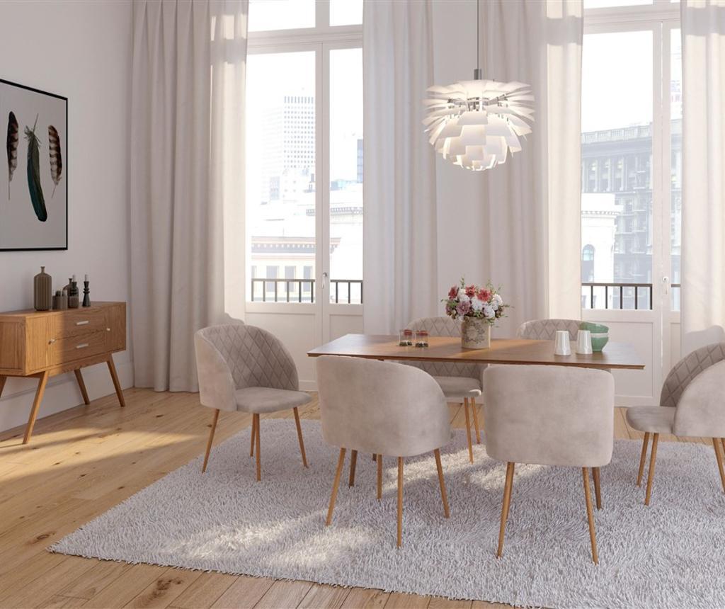 Stolica Makro Warm-Grey Velvet