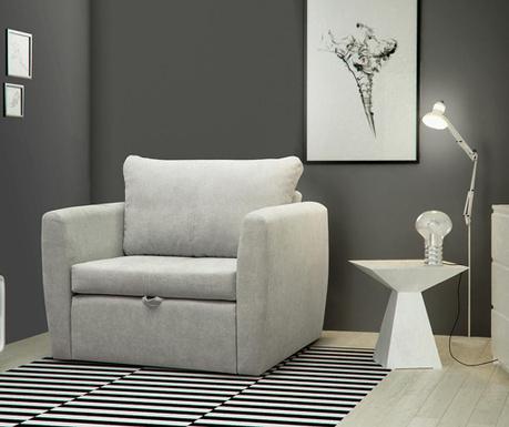 Bella Light Grey Kihúzható fotel